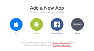 Facebook add new app
